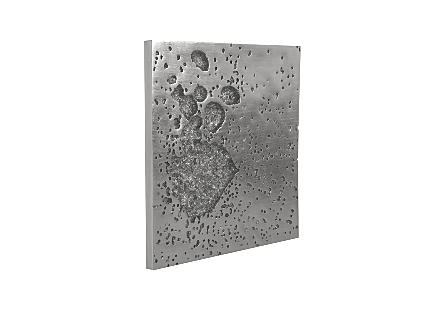 Splotch Wall Art Silver, Square