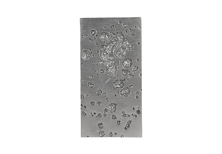 Splotch Wall Art Silver, Rectangle