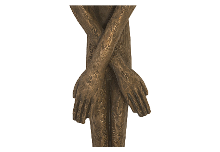 Skinny Male Wall Art Resin, Bronze