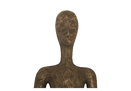 Skinny Female Wall Art Resin, Bronze