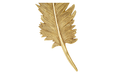 Feathers Wall Art Large, Gold Leaf, Set of 2