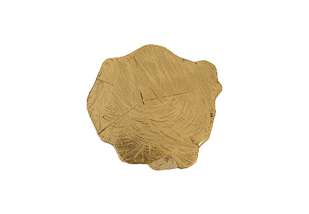 Log Trivet Gold Leaf