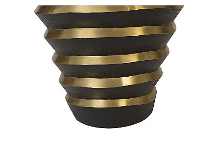 Terra Planter Black, Brass