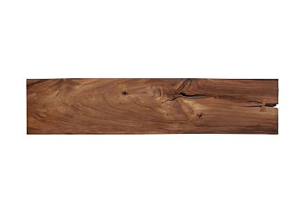 Chamcha Wood Bench Iron Base