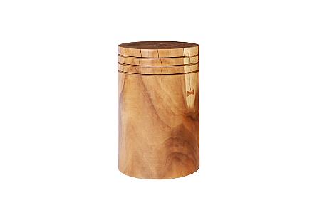 Chamcha Wood Pedestal Round