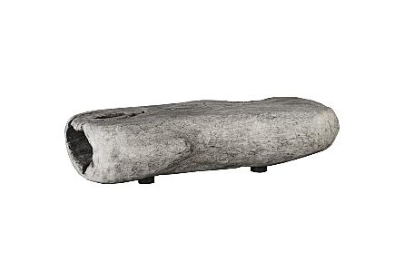 Chamcha Wood Freeform Coffee Table Grey Stone