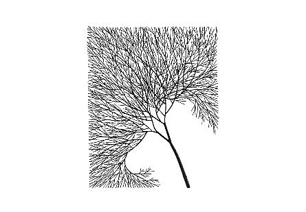 Wire Tree Wall Art Rectangular, Metal, Black