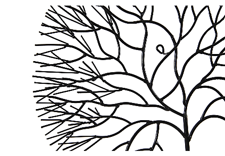 Wire Tree Wall Art Medium, Circle, Metal, Black