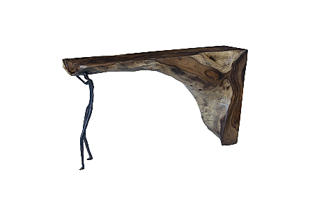 Atlas Console Table Chamcha Wood/Metal, Natural