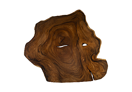 Freeform Chamcha Wood Coffee Table Round