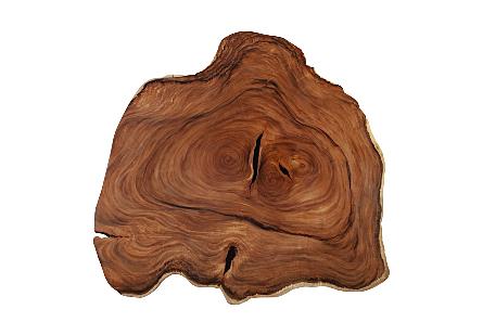 Chamcha Wood Round Coffee Table Freeform