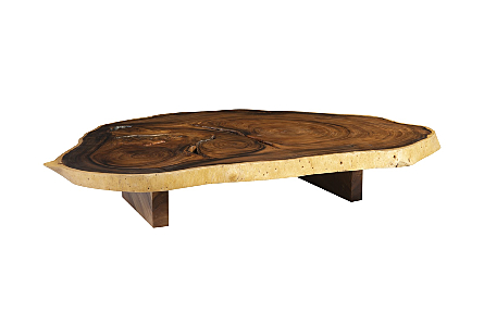Freeform Chamcha Wood Coffee Table Round