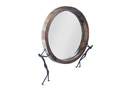 Atlas Mirror Chamcha Wood, Natural, Metal