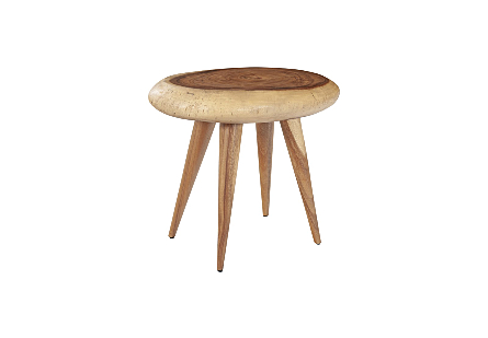 Smoothed Stool Chamcha Wood, Natural