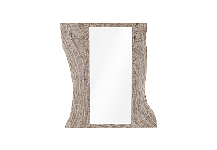 Split Slab Mirror Grey Stone