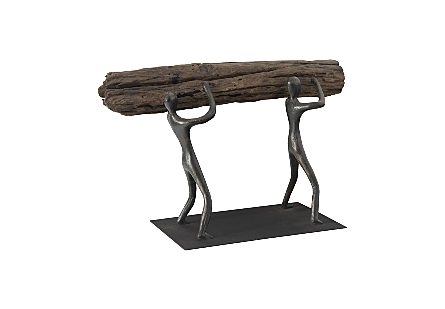 Atlas Tabletop Sculpture Log Lift, With Base
