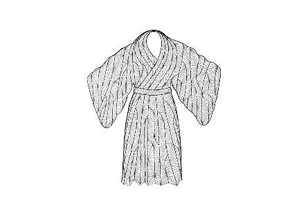 Kimono Man Wall Art Metal, Silver/Black