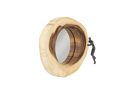 Atlas Crosscut Mirror, Small, Right Side Full Body