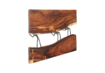 Atlas River Wall Panel Chamcha Wood/Metal, Natural
