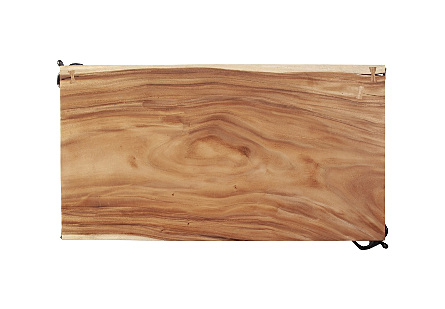 Atlast Coffee Table Chamcha Wood, Natural, Metal