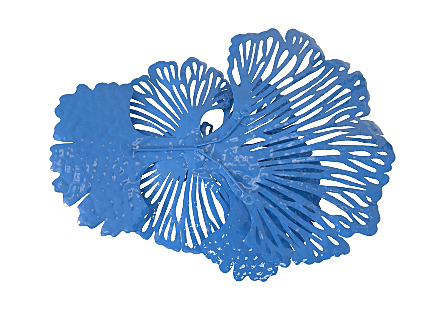 Flower Wall Art Small, Blue, Metal