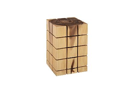 Cubed Stool, Chamcha Wood