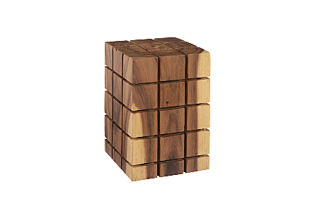 Cubed Stool, Chamcha Wood