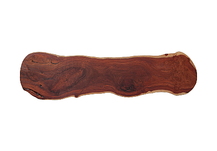 Mai Theng Burled Wood Bench , With Acrylic Legs
