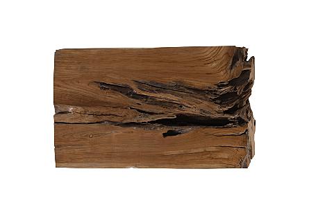 Teak Wood Dining Table Metal Leg