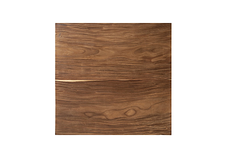 Origins Dining Table Natural, Square, Brushed Stainless Steel Base
