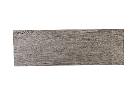 Origins Dining Table Straight Edge, Gray Stone, Brushed Stainless Steel Legs