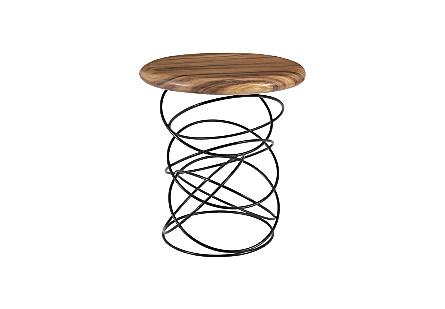 Spiral Side Table