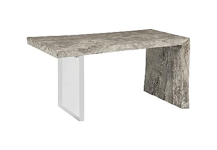 Austin Desk Gray Stone, Acrylic Leg