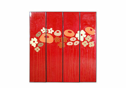 Flower Wall Panels Set of 4