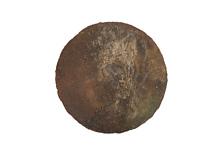 Reclaimed Oil Drum Wall Disc Individual Pieces, Assorted Colors and Depths