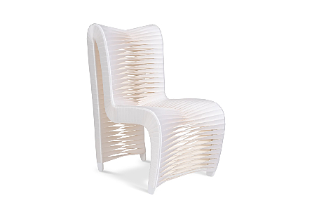 Seat Belt Dining Chair High Back, White/Off-White