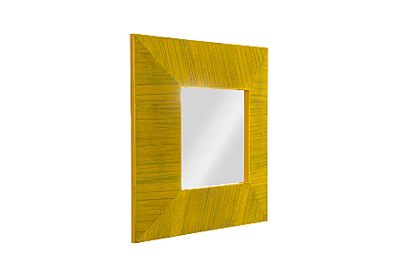 Bamboo Square Mirror Yellow