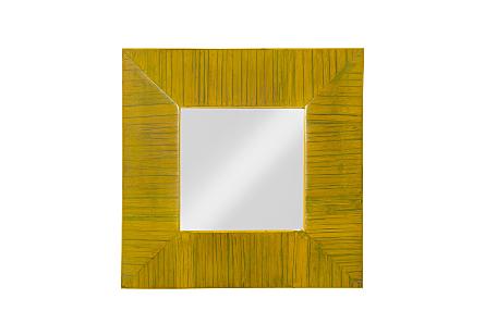 Bamboo Square Mirror Yellow