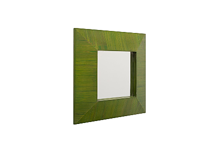 Bamboo Square Mirror Green