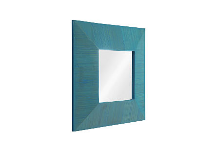 Bamboo Square Mirror Blue