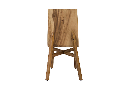 Slant Dining Chair Chamcha Wood, Natural