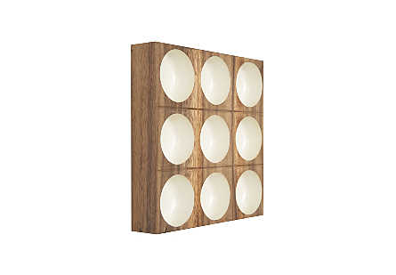 Puka Wall Tile 3x3 White