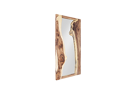 River Mirror Chamcha Wood, Natural