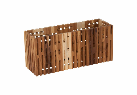Perforated Wooden Box Rectangle