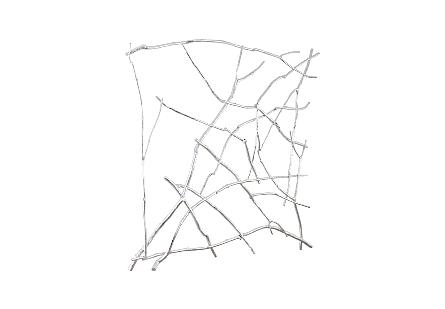Branch Wall Art Silver