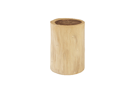 Chamcha Wood Stool Natural, Assorted