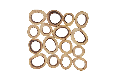 Chuleta Rings Wall Art Chamcha Wood, Square, LG