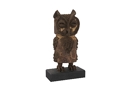 Boy Owl Carved Animal