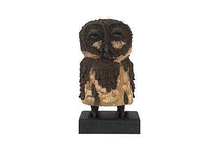 Girl Owl Carved Animal