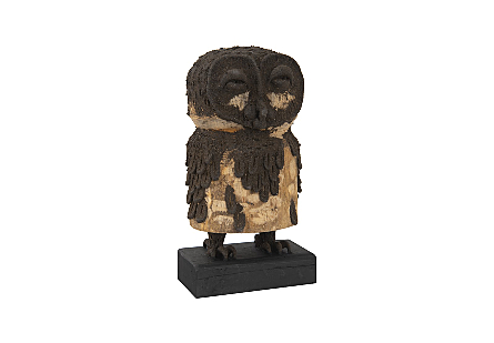Girl Owl Carved Animal